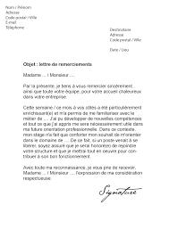 rapport de stage 3eme cuisine lettre de remerciement suite à un stage modèle de lettre