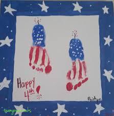 fourth of july children u0027s handprint and footprint artwork u2022