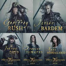 new pirates of the caribbean dead men tell no tales cast posters