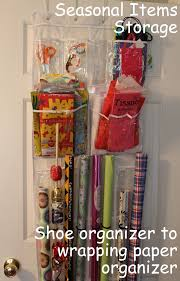 ways to store wrapping paper gift wrap storage from an the door shoe organizer the