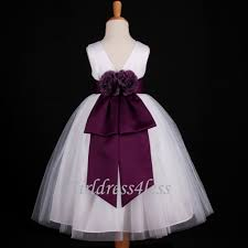 white plum dark purple wedding bridal flower dress 18m 2 2t 3