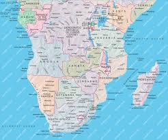 Africa Maps by Southern Africa Map Adobe Illustrator Mountain High Maps Plus