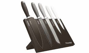 prestige kitchen knives prestige magnetic knife block set groupon goods