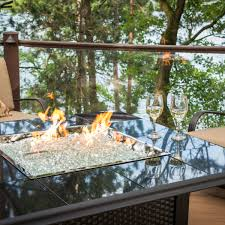 napa valley crystal fire pit table napa valley crystal fire pit table with black metal base granite