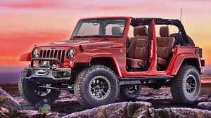 jeep concept vehicles 2015 sema show 2015 in las vegas tuned show jeep wrangler red rock