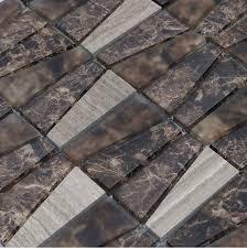 Gray Stone Backsplash by Grey Stone Marble Mosaic Tile Glass Wall Tiles Mosaic Sgmt162