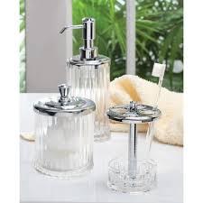 amazon com interdesign alston bathroom vanity jar u2013 storage