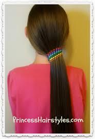 ribbon ponytail summer hairstyles waterfall ribbon twist rainbow ponytail