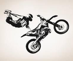 freestyle motocross tricks vinyl wall decal sticker motocross trick os aa195