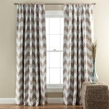 Gray Window Curtains Chevron Blackout Window Curtain Set Lush Décor Www Lushdecor Com