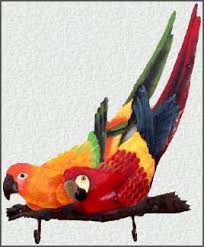 parrot home decor painted parrot metal art handcrafted tropical designs
