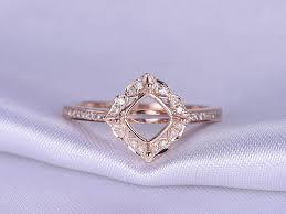 gold cushion cut engagement rings 6mm cushion cut engagement ring setting solid 14k gold