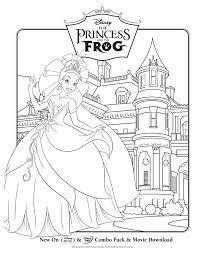 Freebie Alert Princess The Frog Coloring Sheets Princess And The Frog Colouring Pages