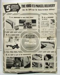 Vintage Ford Truck Ads - ford truck model f 3 parcel delivery sales folder