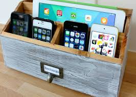 diy wood charging station make your own diy charging station