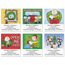 charley brown thanksgiving a charlie brown christmas select address labels colorful images