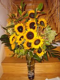 sunflower arrangements floral arrangement sunflowers and other yellow flowers the