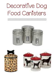 Decorative Dog Food Storage Container - decorative dog food canisters jpg