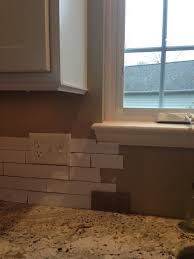 How To Tile A Backsplash In Kitchen Need Help With Where To End Tile Backsplash Around Window