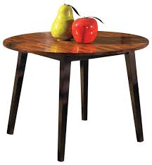 abaco round drop leaf table w acacia finish contemporary