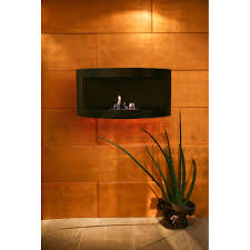 stylish curved wall mounted bioethanol fireplace hesse