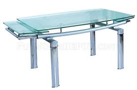Modern Glass Dining Table Dining Table By Beverly Hills W Glass Top