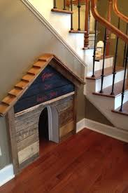 dog house under the stairs cute place for their bed sharing more