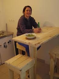 fabriquer une table bar de cuisine ma du bois meubles en bois de palette
