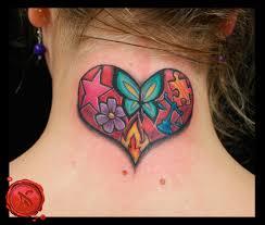 butterfly back of neck flower butterfly
