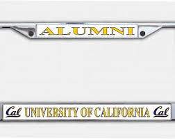 uc berkeley alumni license plate uc berkeley etsy