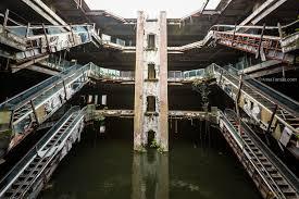 abandoned shopping mall in bangkok amazing aquarium with