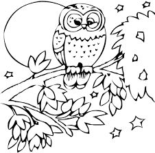 baby animals coloring pages printable free printable owl with