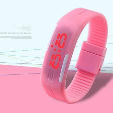 led rubber bracelet images Fashion mens women rubber red led watch date sports bracelet jpg