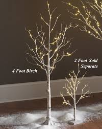 lighted birch trees lighted white birch tree 4 foot 48 warm white led s indoor