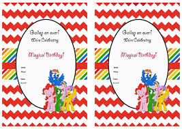 template free printable my little pony party invitations