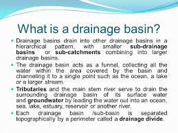 definition pattern of drainage rivers drainage basins ppt video online download