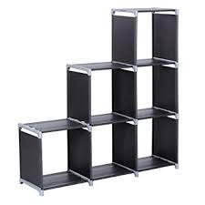 Tiered Bookshelves by Amazon Com Songmics 3 Tier Storage Cube Closet Organizer Shelf 6