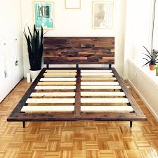 King Size Beds Mid Century Solid Walnut Platform Bed Queen Size Bed King Size