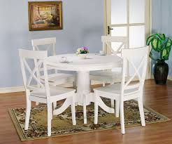 White Kitchen Table Sets Holland House 1280 5 Piece Round Kitchen Table And X Back Side