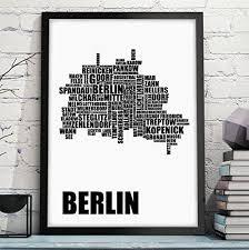 geschenk hochzeitstag mann owlbook berlin karte kunstdruck mit stadtbezirken in vielen