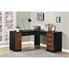 L Shaped Drafting Desk Dorel Avalon Cherry Black L Desk