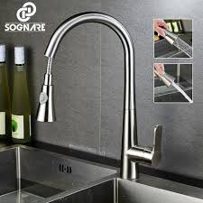 kitchen faucet pull sprayer sognare style pull out kitchen faucet pull dual