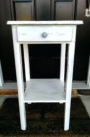 distressed white side table distressed white nightstand antique distressed white solid wood