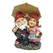 design toscano rainy day gnomes an umbrella garden statue