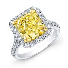 world best rings images 5 11ct radiant cut fancy intense yellow diamond 18k white gold jpg