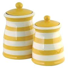 yellow kitchen canisters yellow kitchen canisters yellow and white striped canister set