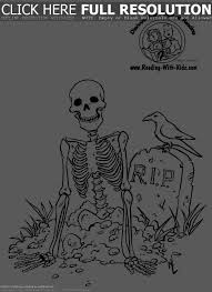 best ideas of 2017 skeleton coloring page with additional format