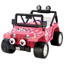 toy jeep wrangler 4 door power wheels minnie mouse jeep wrangler bbm95 pink power