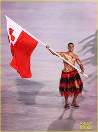Olimpics Flag Shirtless Tonga Flag Bearer Pita Taufatofua Returns For Winter