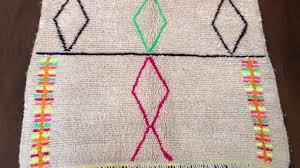 the blooming loom moroccan neon azilal rug youtube
